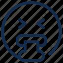 emoji, emoticon, emotion, sick, vomiting icon