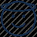 angel, emoji, emoticon, emotion, halo, smile icon