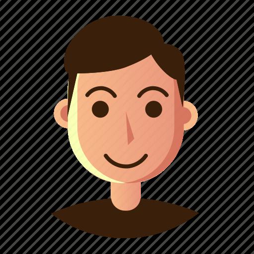 avatar, emoticon, man, people, smile, smiley, user icon