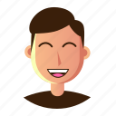 avatar, emoticon, happy, man, people, smiley, user icon