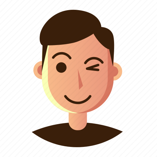avatar, emoticon, flshing, man, people, smiley, user icon