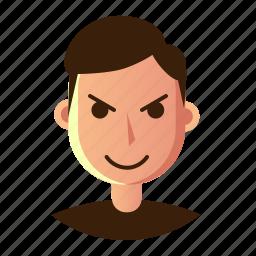 avatar, emoticon, evil, man, people, smiley, user icon