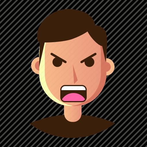 avatar, emoticon, man, people, smiley, upset, user icon