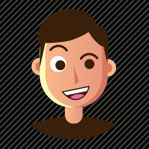 avatar, craze, emoticon, man, people, smiley, user icon