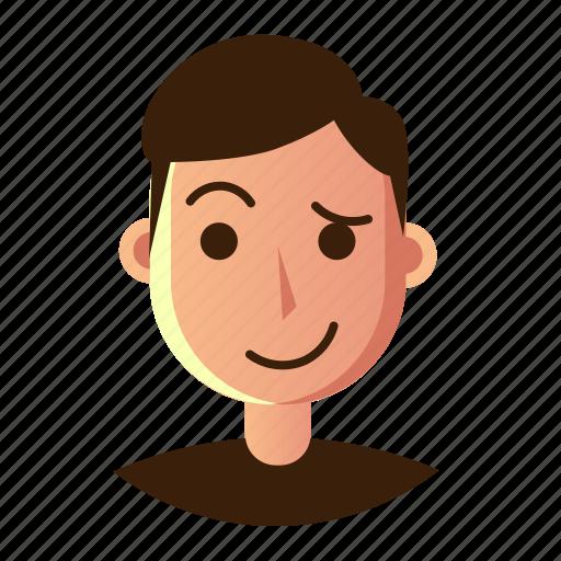 avatar, emoticon, hestitate, man, people, smiley, user icon