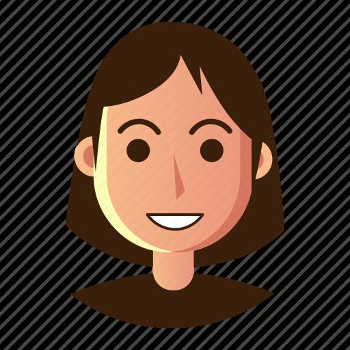 avatar, emoticon, people, smile, smiley, user, woman icon