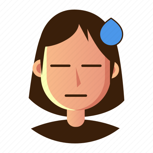 avatar, emoticon, people, poker face, smiley, user, woman icon