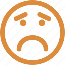 angry, emoticons, eyebrows, furrow icon