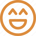 big grin, emoticons, laugh, smiley icon