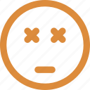 angry, emoticons, eye sealed, smiley icon
