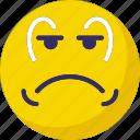adoring, baffled emoticon, sad, weeping icon