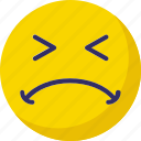 confused, emoticons, smiley, worried icon