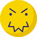 angry, expression, face, smiley icon