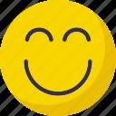 emoticons, excited, nodding, smile icon