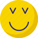 adoring, confused, emoticons, smiley icon