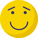 blushing, evil grin, nodding, wondering icon