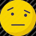 angry, emoticons, sad, speechless icon