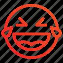 emoji, happy, paralyzed, smile icon