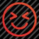 emoji, emoticon, expression, happy, paralyzed, smile, well icon