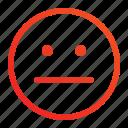 dumb, emoji, emoticon, expression, feeling, silent, usual icon