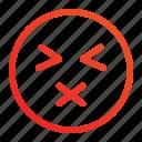 dumb, emoji, emoticon, silent icon