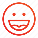 emoji, emoticon, expression, frendly, happy, smile, well icon