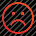 emoji, emoticon, expression, feeling, moody, sad, unwell icon