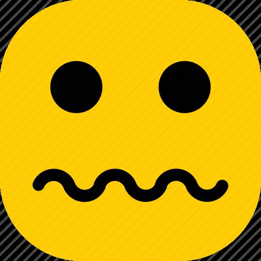 emoticon, emoticons, expression, face, sad icon