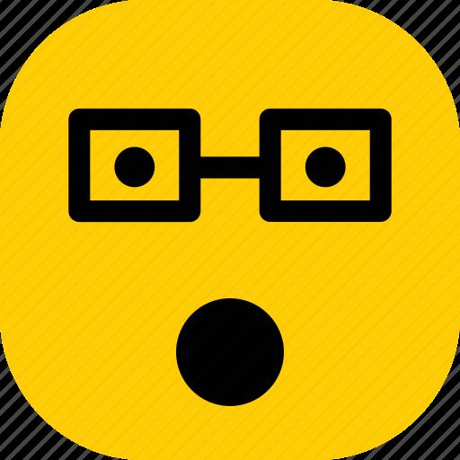 emoticon, emoticons, emotion, expression, shocked icon