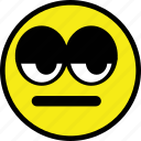 bored, emoticon, emotion, expression, face icon