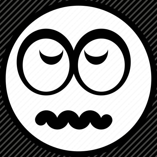 avatar, bored, emoticon, emotion, face icon