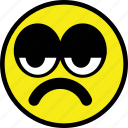emoticon, emotion, expression, sad, smiley icon