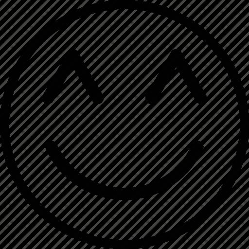 emoji, emoticon, expression, happy, smile icon