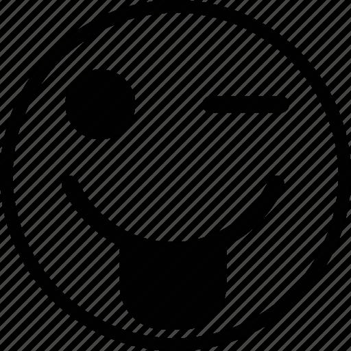 emoji, emoticon, expression, face, mock icon