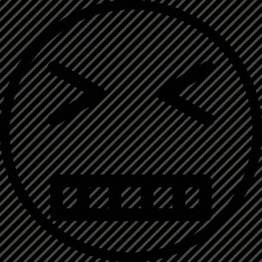 emoji, emoticon, expression, face, mad icon
