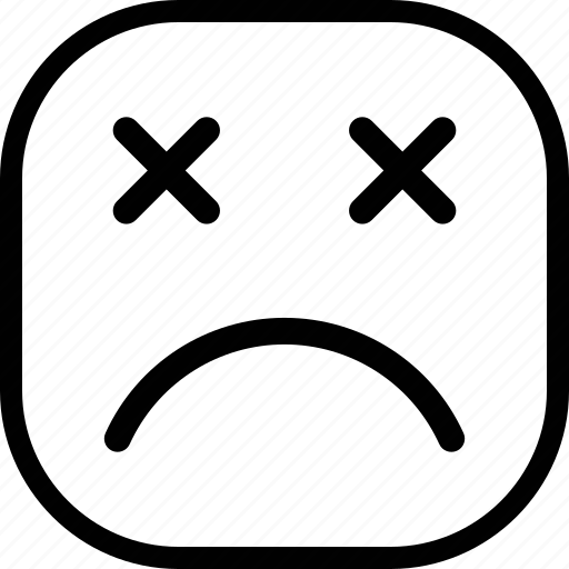 emoji, emoticon, expression, sad icon