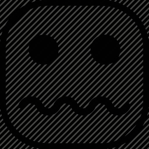 emoji, emoticon, expression, sad, sick icon