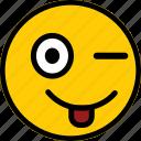 emoticon, emoji, expression, mock, smiley