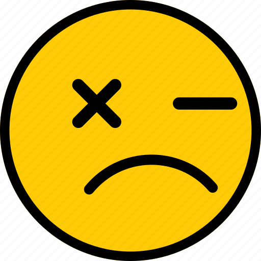 emoji, emoticon, expression, mad, sad icon