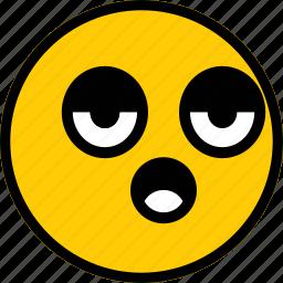 bored, emoji, emoticon, expression, face icon