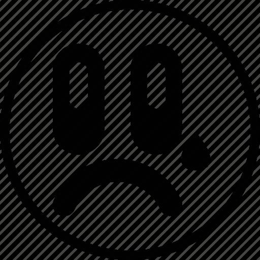 cry, emoticon, emotion, face, sad icon