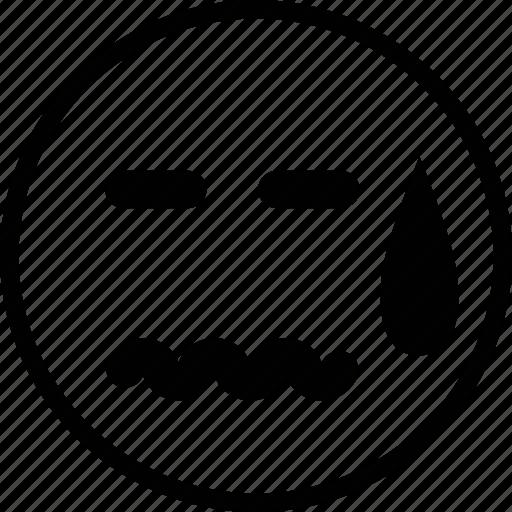 emoticon, emotion, face, sad, sick icon