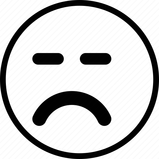 emoticon, emotion, expression, face, sad icon