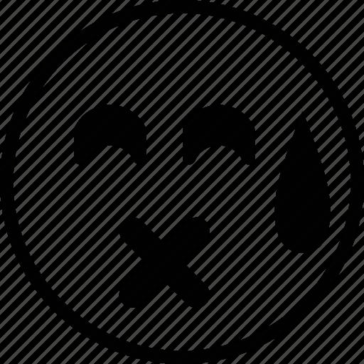 emoticon, emotion, face, mad, sad icon