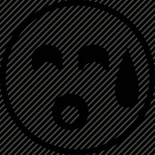 bored, emoticon, emotion, face, sad icon