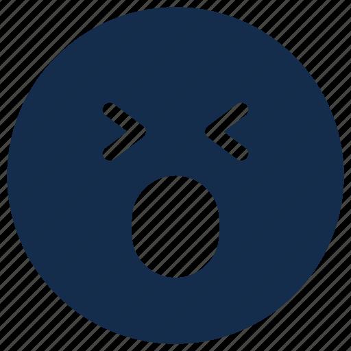 emoji, emoticon, emotion, happy, surprised icon