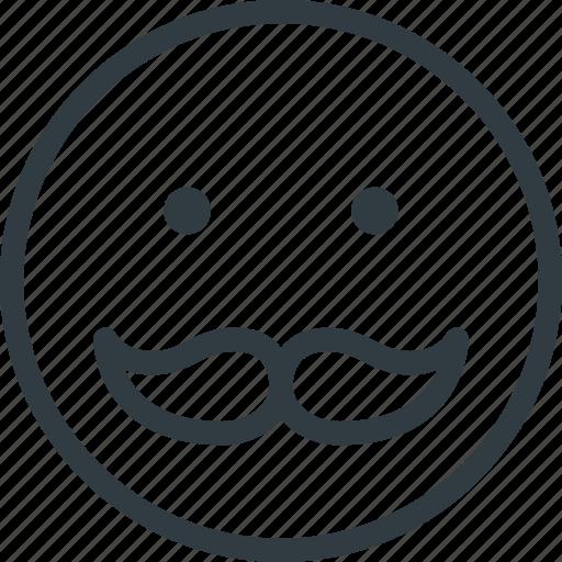 emoji, emote, emoticon, emoticons, mustache icon