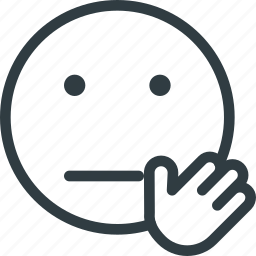 emoji, emote, emoticon, emoticons, stop icon