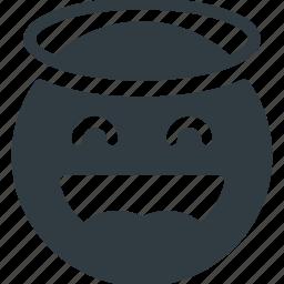angel, emoji, emote, emoticon, emoticons icon