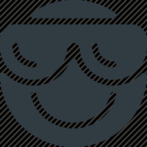 cool, emoji, emote, emoticon, emoticons icon